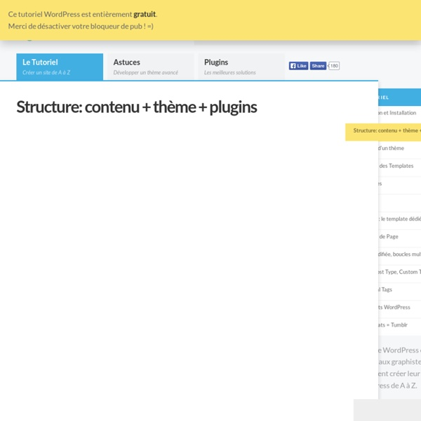 Structure : contenu + thème + plugins