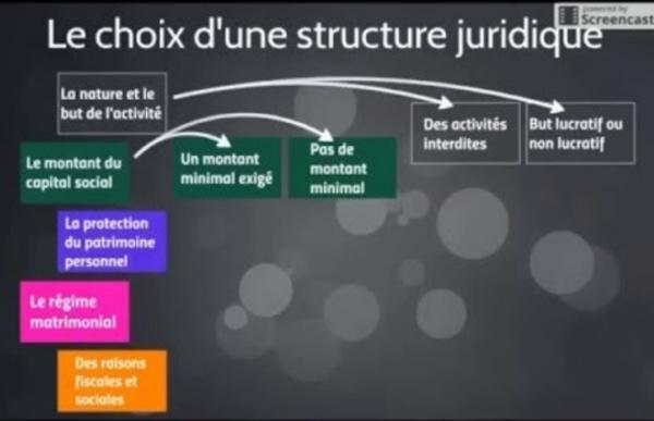 VIDEO 2 : Choisir une structure juridique d'entreprise