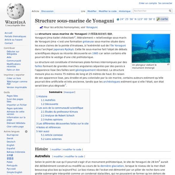 Structure sous-marine de Yonaguni
