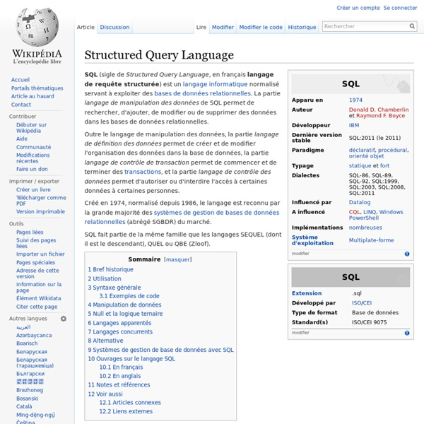 Structured Query Language - Wikipédia