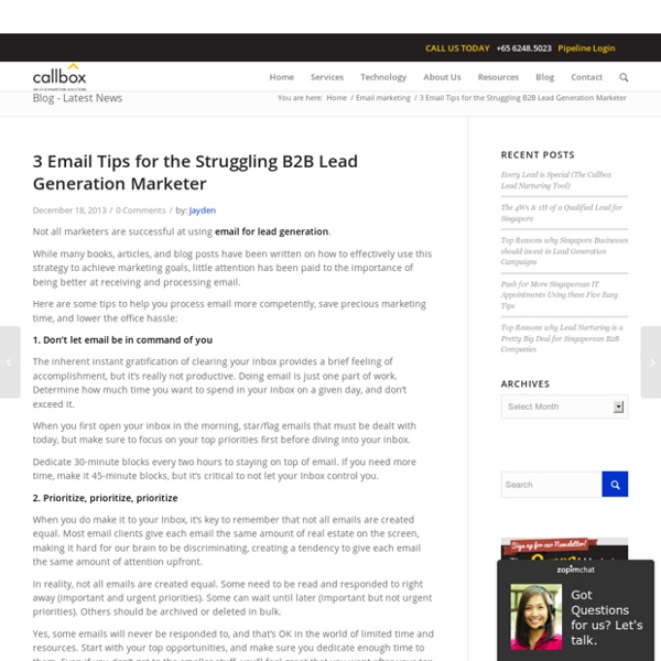 3 Email Tips for the Struggling B2B Lead Generation Marketer
