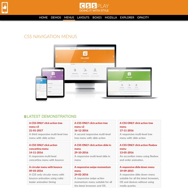 CSS only menus