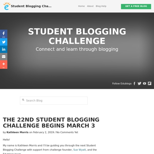 Challenge yourself to connect and learn through blogging