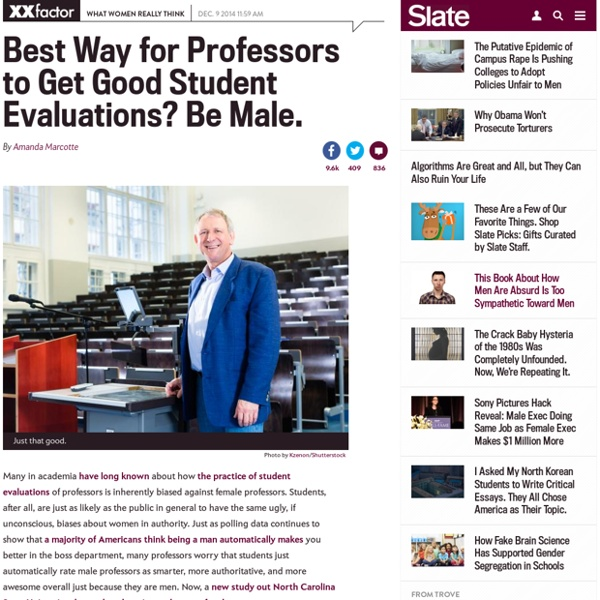 Gender bias in student evaluations: Professors of online courses who present as male get better marks.