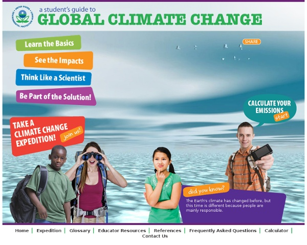 The EPA Climate Change Kids Site
