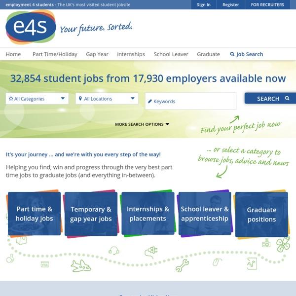 Student Jobs, Part Time Jobs, Temporary Jobs, Internships & Summer Jobs - E4S