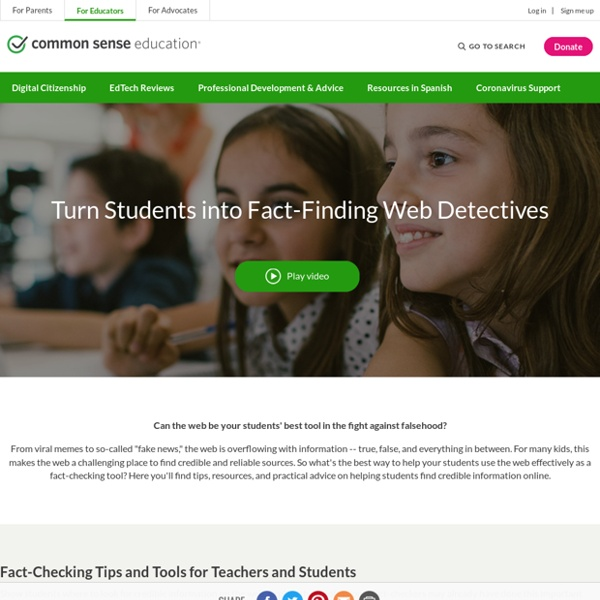 Turn Students into Fact-Finding Web Detectives