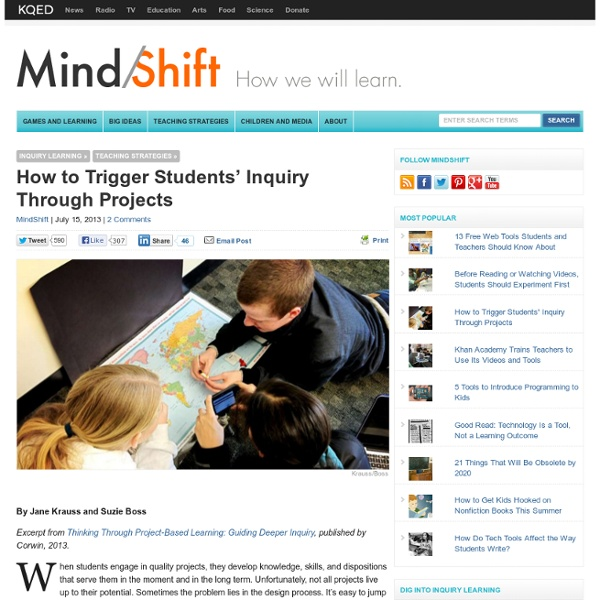 How to Trigger Students' Inquiry Through Projects