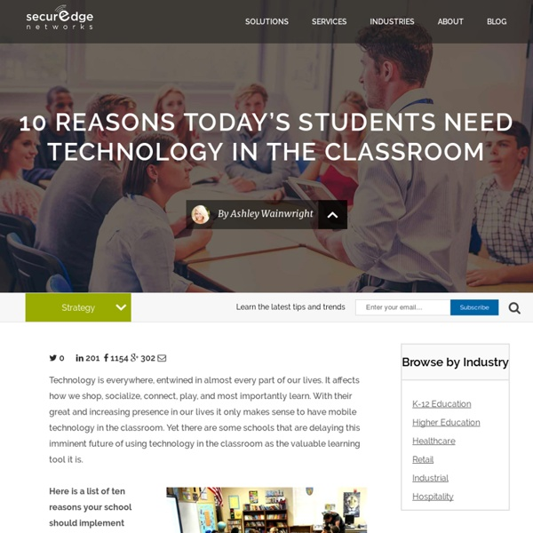 10 Reasons Today's Students NEED Technology in the Classroom