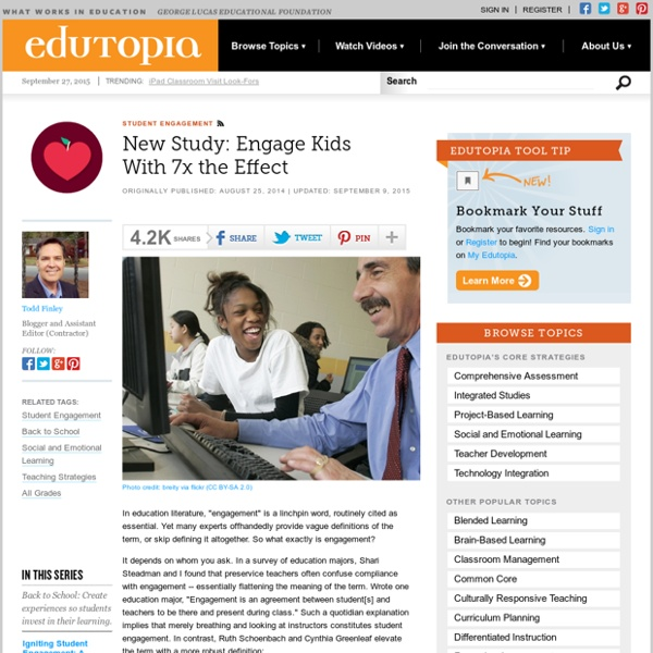 New Study: Engage Kids With 7x the Effect