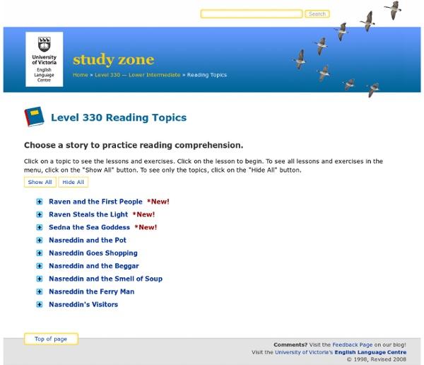 Level 330 Reading Topics