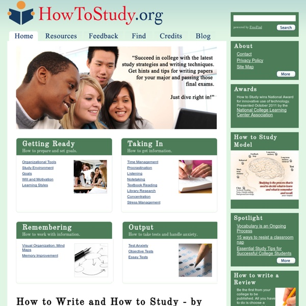 Howtostudy.org - When you hit the books - and they hit back.