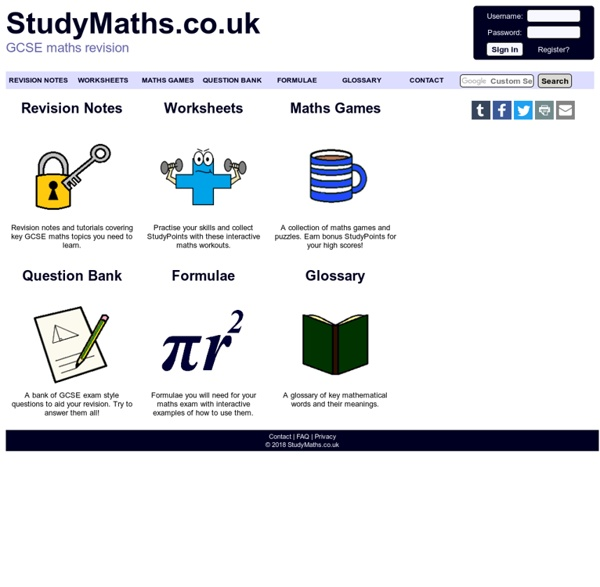 StudyMaths.co.uk - GCSE maths revision