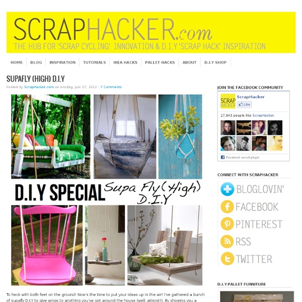 Put your stuff up in the air! Hanging DIY ideas & tutorials