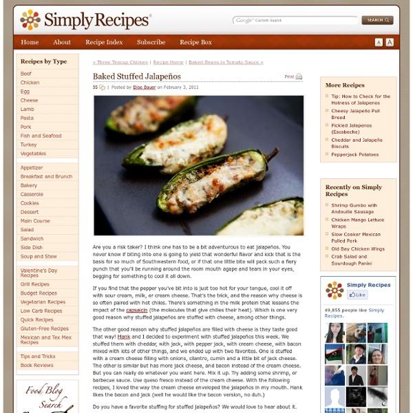 Baked Stuffed Jalapeños Recipe