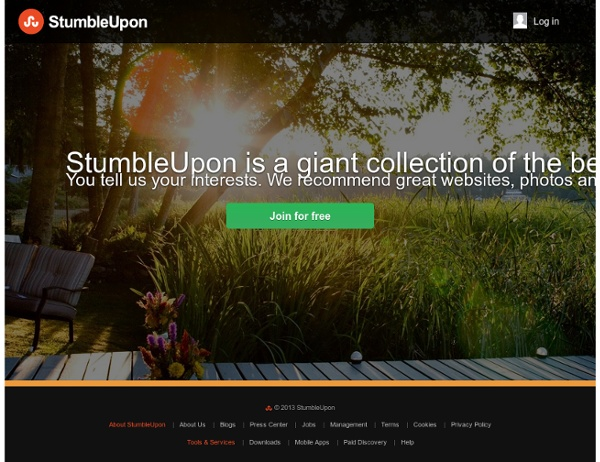 StumbleUpon.com: Discover the Best of the Web