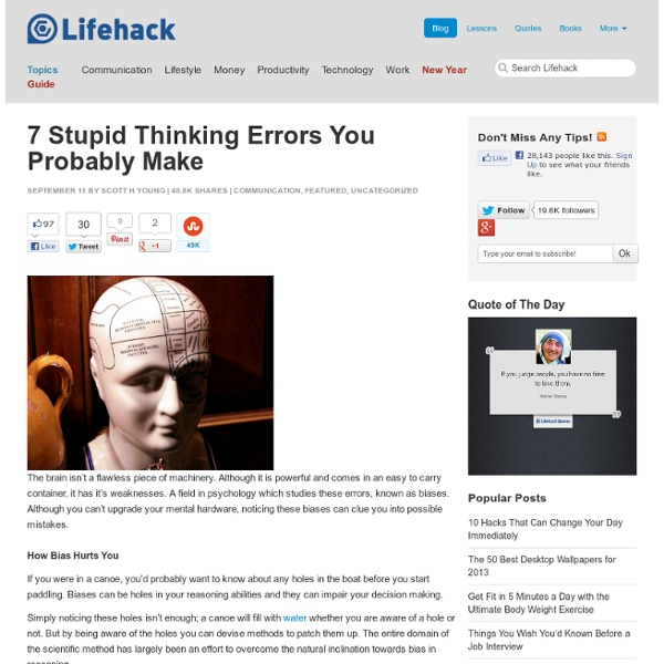 7 Stupid Thinking Errors You Probably Make