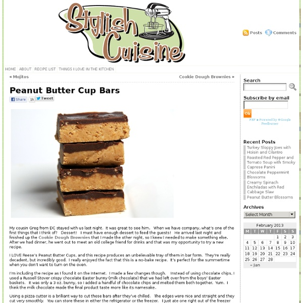 Stylish Cuisine « Peanut Butter Cup Bars
