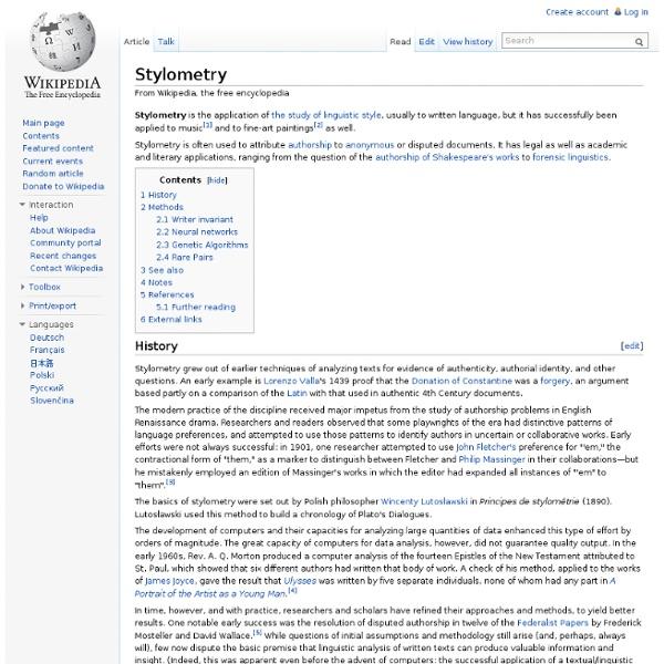 Stylometry