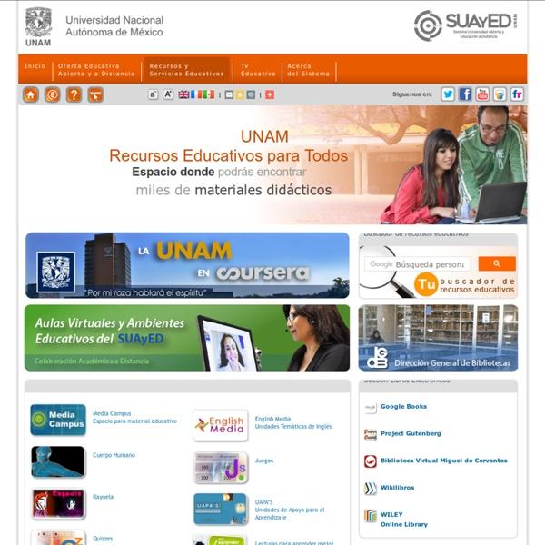 SUAyED - Portal de la Universidad Nacional Aut�noma de M�xico