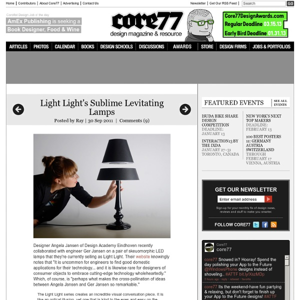 Light Light's Sublime Levitating Lamps