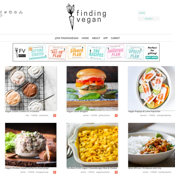 Vegan recipe photos + links. Updated hourly. Blogger-submitted, from your favorite bloggers. Register today!
