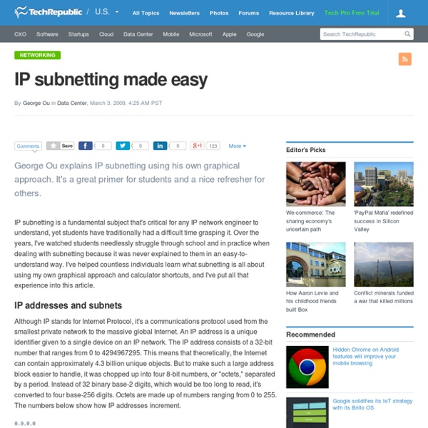 Quick and Easy Subnetting on Routing, Switching and ...