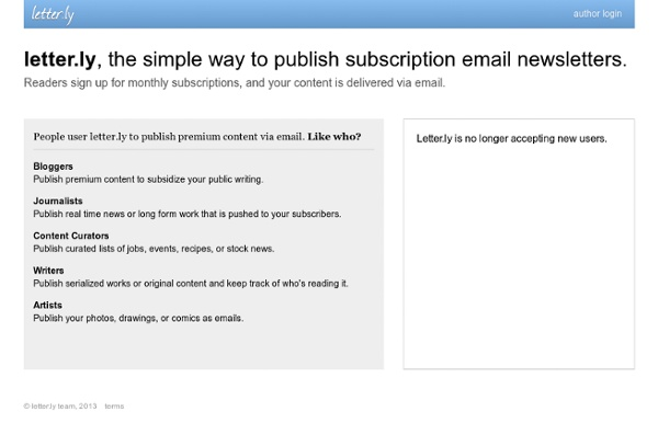 Letter.ly: simple subscription newsletters