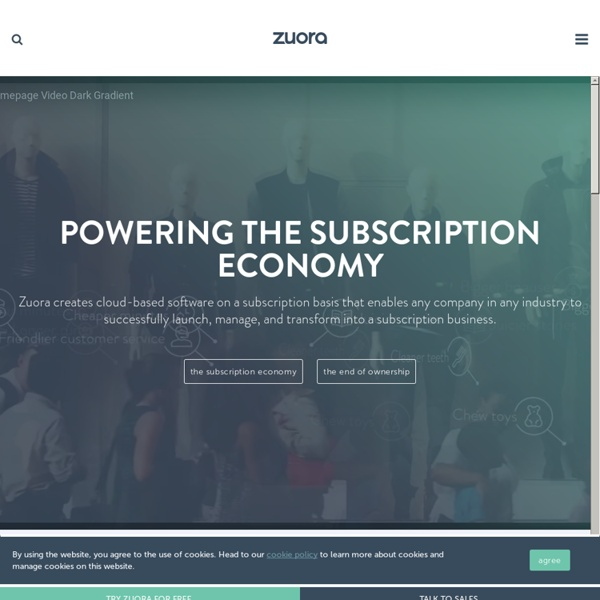 Subscription Billing, Commerce & Finance Solutions - Zuora