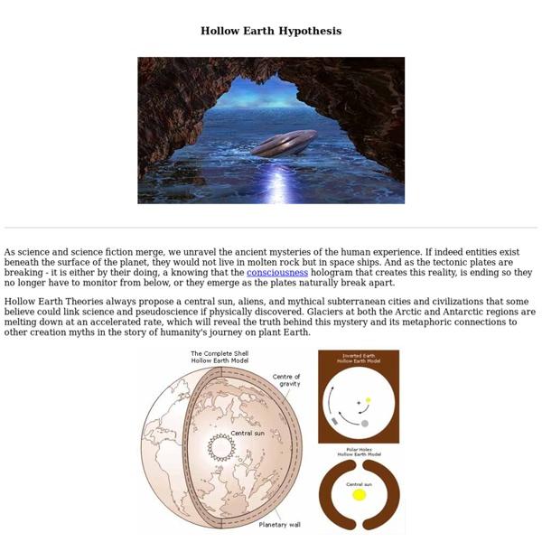 Hollow Earth Hypothesis - Subterranean Civilizations - Agartha