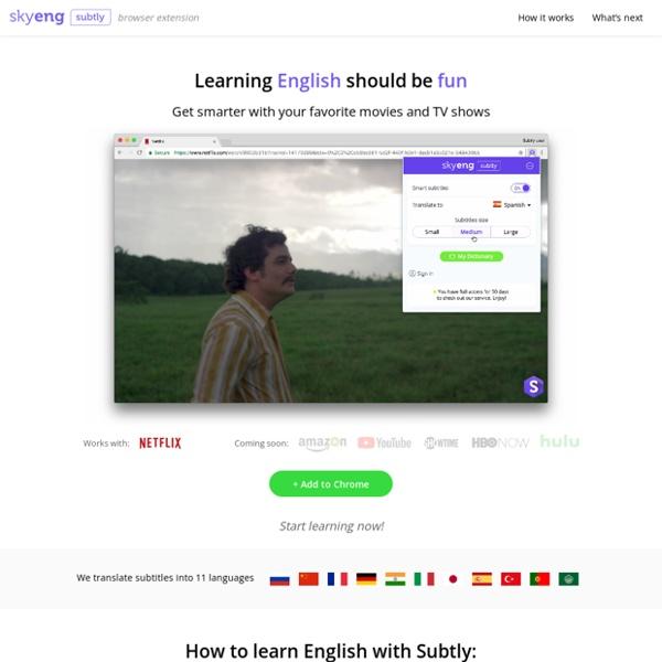Subtly – subtitles translator for Netflix
