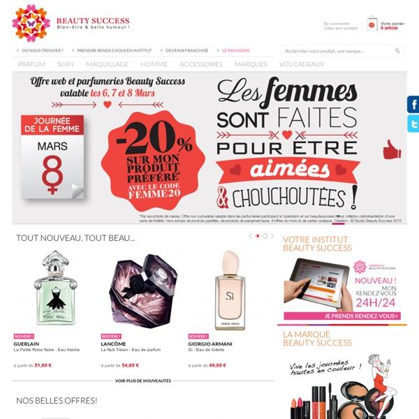 Achat de parfum, maquillage et produits de beauté en ligne