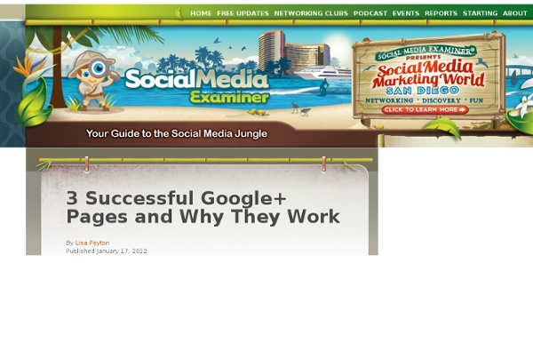 3 Successful Google+ Pages and Why They Work
