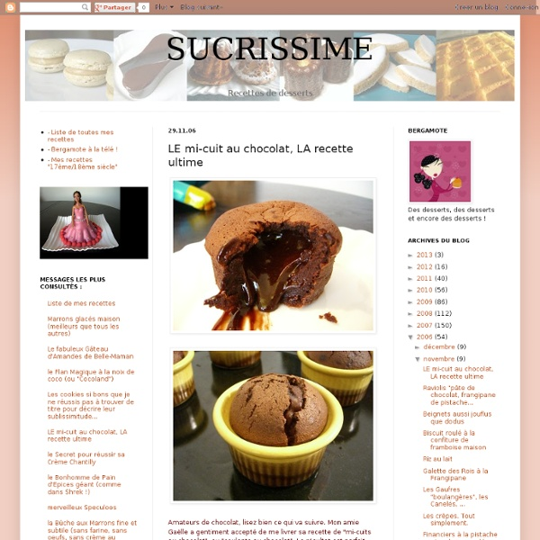 LE mi-cuit au chocolat, LA recette ultime