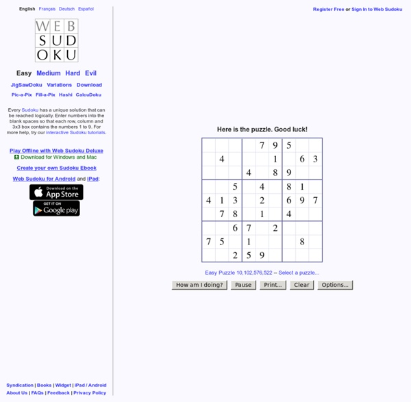 Play Online Sudoku Puzzles