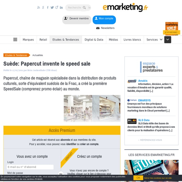 Suède: Papercut invente le speed sale