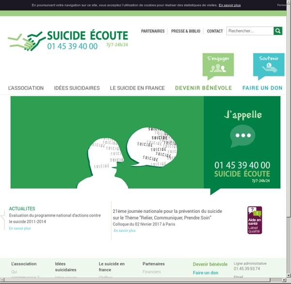 Suicide Ecoute : ligne d'écoute 24h/24