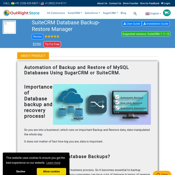 How to Scheduled Backup & Restore in Suitecrm