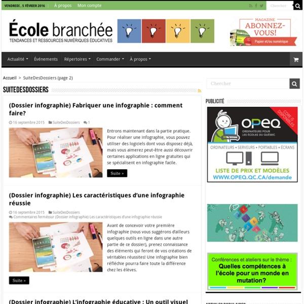 (faire) réaliser des infographies : dossier École branchée 2015