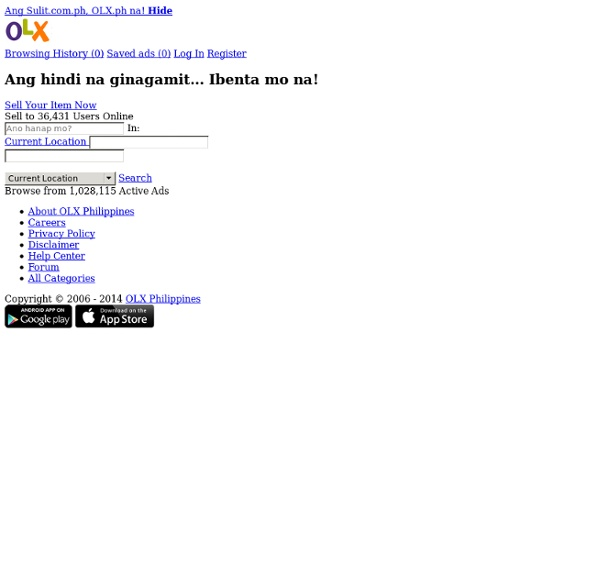 The Philippines' #1 Buy and Sell Website - OLX.ph by Sulit.com.ph
