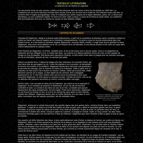 Textes Sumeriens / Gilgamesh - l'Atrahasis