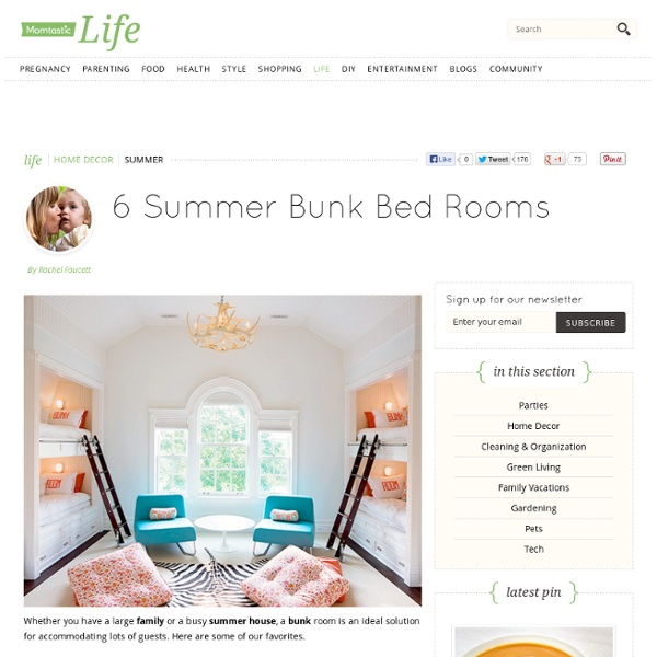 6 Summer Bunk Bed Rooms