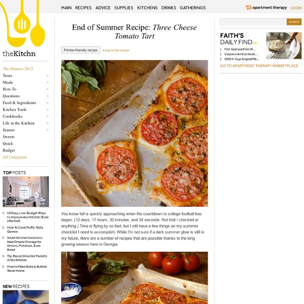 End of Summer Recipe: Three Cheese Tomato Tart