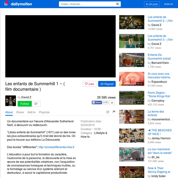 Les enfants de Summerhill 1 ~ ( film documentaire )