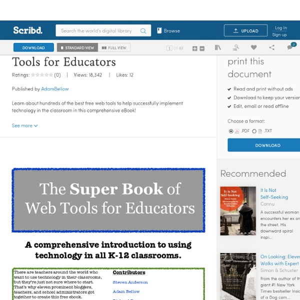 The Super Book of Web Tools for Educators