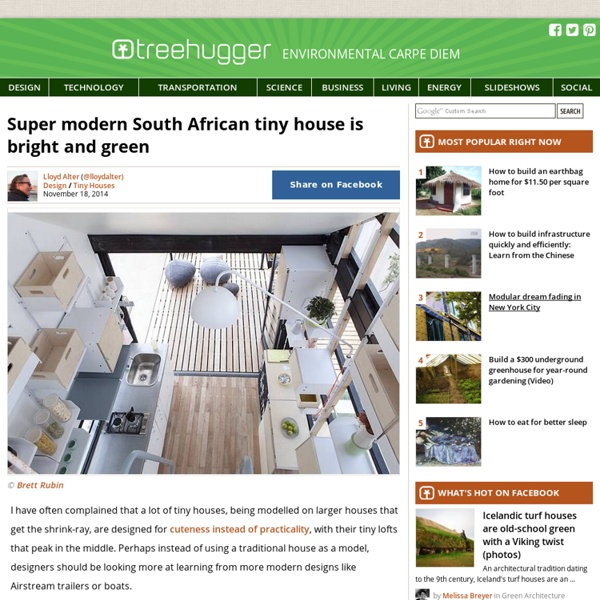 Super modern South African tiny house is bright and green