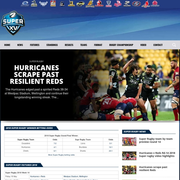 Super 15 Rugby News,Results and Fixtures from Super XV Rugby