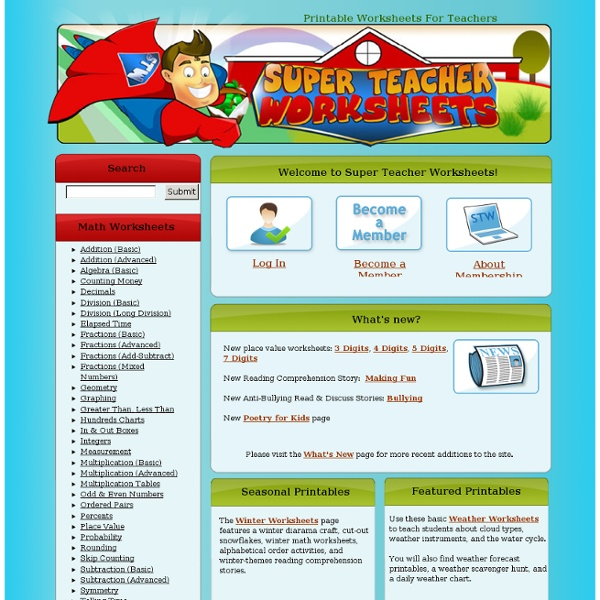 Super Teacher Worksheets Login. Rupsucks Printables Worksheets