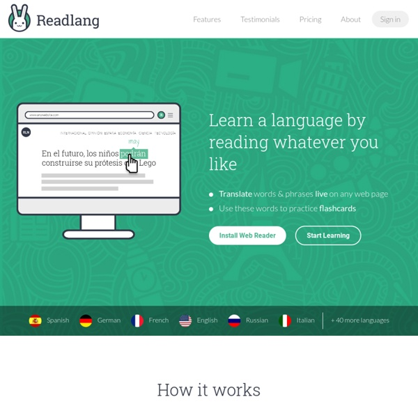 Readlang - Read, translate and supercharge your vocabulary