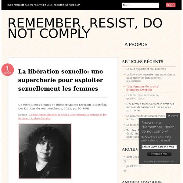 La libération sexuelle: une supercherie pour exploiter sexuellement les femmes